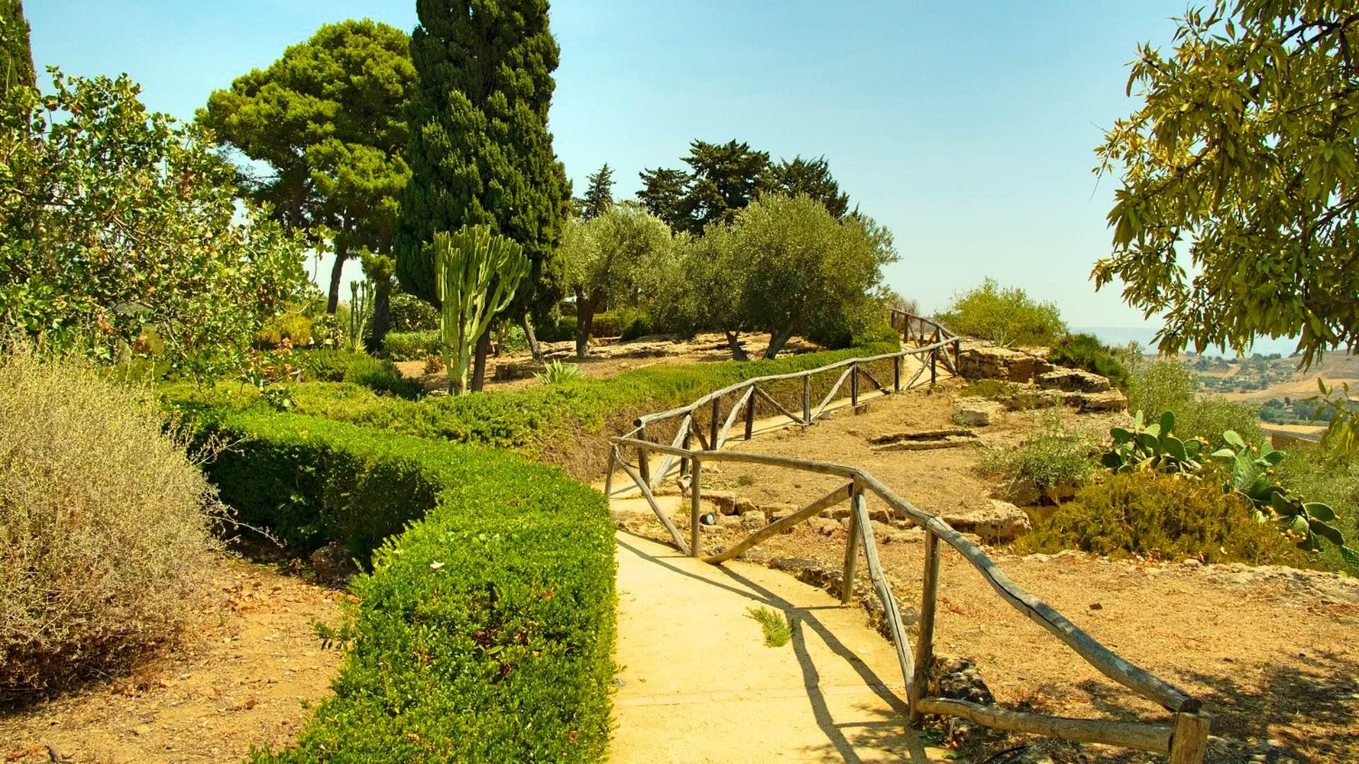 datazione percorso giardino