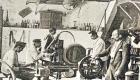 Laboratorio dello stabilimento Averna in una foto del 1911