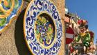 Ceramiche di Sciacca con un carro allegorico