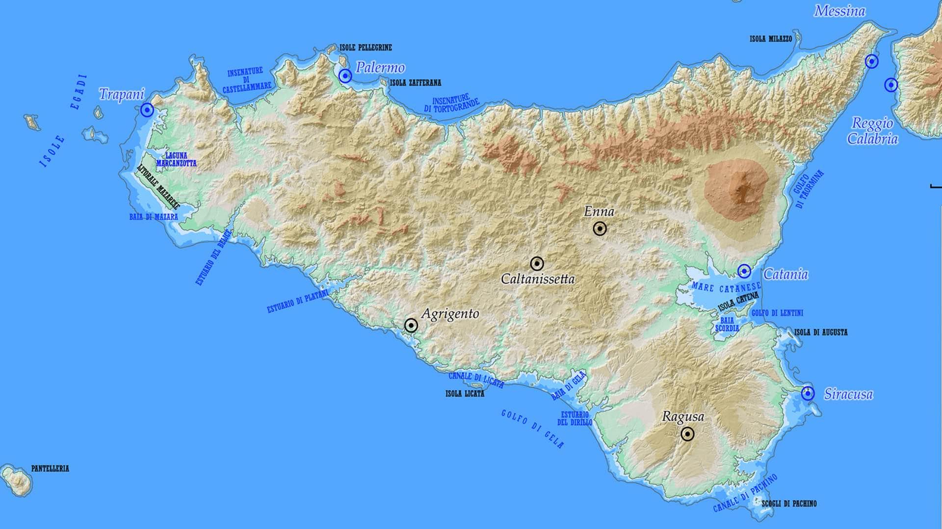 Cartina Sicilia Termini Imerese.Citta Sommerse E Abitanti Sottoterra Ecco Come Sara La Sicilia Nel 2786 Le Vie Dei Tesori News