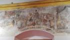 Gli affreschi nella sala teatro