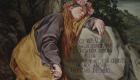 Dipinto di Francesco Sarullo che raffigura la Santuzza nella grotta